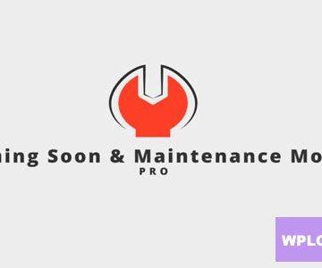 Coming Soon & Maintenance Mode PRO v6.37 Totally WordPress Free WordPress Plugin Download