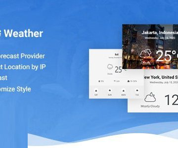 Jeg Weather v1.0.2 - Forecast WordPress Plugin - Add Ons for Elementor and WPBakery Page Builder Totally WordPress Free WordPress Plugin Download